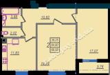общая площадь 68,58 кв.м.