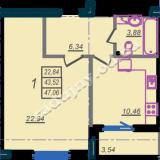 общая площадь 47,06 кв.м.
