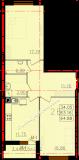 общая площадь 64,88 кв.м.