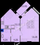 общая площадь 38,30 кв.м.