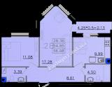 общая площадь 56,98 кв.м.
