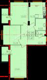 общая площадь 71,87 кв.м.