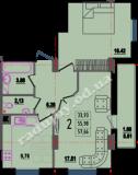 общая площадь 57,66 кв.м.