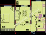 общая площадь 57,29 кв.м.