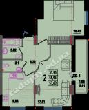 общая площадь 57,63 кв.м.