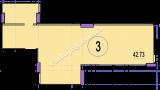 торгово офисное помещение 42,73  кв.м.