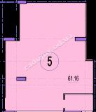 торгово офисное помещение 61,16  кв.м.