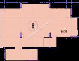 торгово офисное помещение 84,36  кв.м.