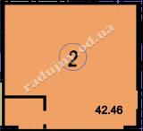 торгово офисное помещение 42,46  кв.м.