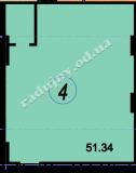 торгово офисное помещение 51,34  кв.м.
