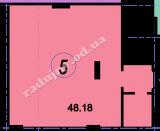 торгово офисное помещение 48,18  кв.м.