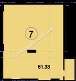 торгово офисное помещение 61,33  кв.м.