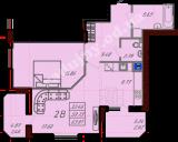 общая площадь 63,81  кв.м.