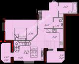 общая площадь 64,26  кв.м.