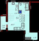 общая площадь 36,92  кв.м.