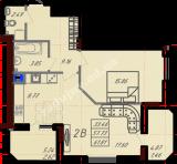 общая площадь 61,81  кв.м.