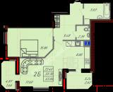 общая площадь 63,84  кв.м.