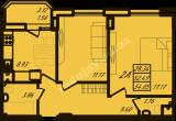 общая площадь 54,05  кв.м.