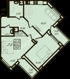 общая площадь 71,81 кв.м.