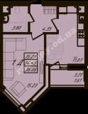 общая площадь 36,06  кв.м.