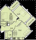 общая площадь 72,05 кв.м.
