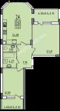 общая площадь 72,36 кв.м.