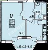 общая площадь 35,24 кв.м.