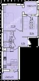 общая площадь 56,75 кв.м.