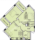 общая площадь 72,11 кв.м.
