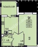 общая площадь 41,26 кв.м.