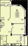 общая площадь 72,39 кв.м.