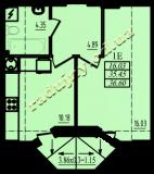 общая площадь 36,60 кв.м.