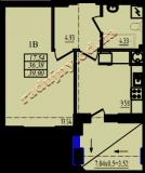 общая площадь 39,90 кв.м.