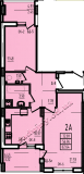 общая площадь 62.64 кв.м.