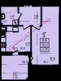 общая площадь 42,78 кв.м.