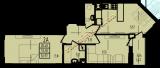общая площадь 56,97 кв.м.