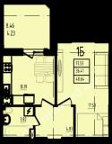 общая площадь 40,64 кв.м.