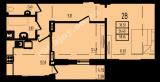 общая площадь 58,56 кв.м.