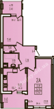 общая площадь 62,64 кв.м.