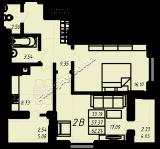 общая площадь 62,24 кв.м.