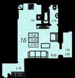 общая площадь 37,84 кв.м.