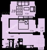 общая площадь 61,93 кв.м.