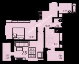 общая площадь 64,99 кв.м.
