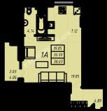 общая площадь 38,03 кв.м.