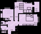 общая площадь 60,55 кв.м.