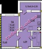 общая площадь 39,04 кв.м.
