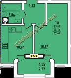 общая площадь 37.44 кв.м.