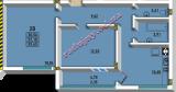общая площадь 59.45 кв.м.