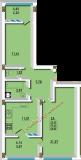 общая площадь 63.02 кв.м.